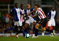 Photo: Steve Bond.<br />Birmingham City v Sunderland. The FA Barclays Premiership. 15/08/2007.  Dean Whitehead (R) attempts to break through