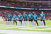 jags d-line drums during the International Series match between Jacksonville Jaguars and Houston Texans at Wembley Stadium, London, England on 3 November 2019.