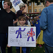 Thousands assembly in Hype park march to Parliament square. demand for a second referendum and growing majority rejecting the UK current path out of the EU. European feel betrayal by the British and other are worry divided family and will be fighting for the custody for the children.