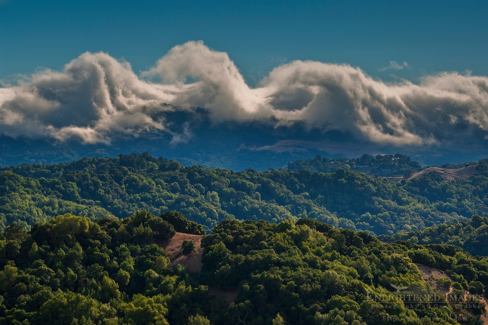 Kelvin Helmholtz instability clouds over the Berkeley Hills; California