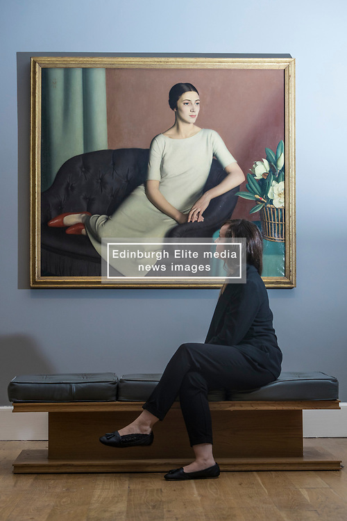 True to Life: British Realist Painting in the 1920's and 1930's  is the first ever exhibition to explore the realist tradition in British Painting of the 1920's and 1930's. It brings to light the work of dozens of once-celebrated artists whose paintings are now largely hidden away in private collections or in the store-rooms of Britain's museums and galleries.<br /> <br /> The exhibition runs from 1 July - 29 October 2017 at Scottish National Gallery of Modern Art (Modern Two) in Edinburgh<br /> <br /> Pictured:  Marguerite Kelsey, 1928 - Meredith Frampton (1894 - 1984)