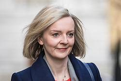 © Licensed to London News Pictures. 07/03/2017. London, UK. Justice Secretary Elizabeth Truss on Downing Street. The government is set to deliver the budget tomorrow, Wednesday 8 March 2017. Photo credit: Rob Pinney/LNP