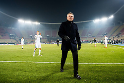 December 7, 2017 - Skopje, MACEDONIA - 171207 KÅ're Ingebrigtsen, head coach of Rosenborg, after the Europa League match between FK Vardar and Rosenborg on December 7, 2017 in Skopje..Photo: Jon Olav Nesvold / BILDBYRN / kod JE / 160096 (Credit Image: © Jon Olav Nesvold/Bildbyran via ZUMA Wire)