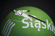 Poland, Wisla Malinka - 2017 November 18: Peter Prevc from Slovenia soars through the air during FIS Ski Jumping World Cup Wisla 2017/2018 - Day 1 at jumping hill of Adam Malysz on November 18, 2017 in Wisla Malinka, Poland.<br /> <br /> Mandatory credit:<br /> Photo by © Adam Nurkiewicz<br /> <br /> Adam Nurkiewicz declares that he has no rights to the image of people at the photographs of his authorship.<br /> <br /> Picture also available in RAW (NEF) or TIFF format on special request.<br /> <br /> Any editorial, commercial or promotional use requires written permission from the author of image.