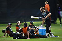Cricket - 2019 ICC Cricket World Cup - pre-Final practice & press conferences<br /> <br /> New Zealand's Kane Williamson (right) and team mates relaxing during a net session, at Lords.<br /> <br /> COLORSPORT/ASHLEY WESTERN