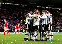 Derby County celebrate Nicklas Bendtner of Nottingham Forest scoring an own goal for them - Mandatory by-line: Robbie Stephenson/JMP - 11/12/2016 - FOOTBALL - iPro Stadium - Derby, England - Derby County v Nottingham Forest - Sky Bet Championship