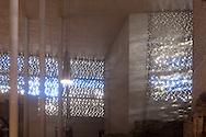 Europa, Deutschland, Koeln, das Erzbischoefliche Dioezesanmuseum Kolumba  in der Innenstadt, Architekt Peter Zumthor, Sonnenstrahlen fallen durch das Filtermauerwerk der Aussenwand.<br /> <br /> Europe, Germany, Cologne, diocesan museum Kolumba in the city, architect Peter Zumthor, sunbeams falling through the walls of the outer wall.