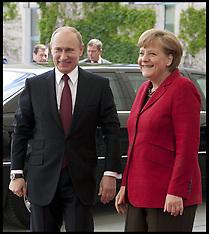 President Putin and Angela Merkel 1-6-12