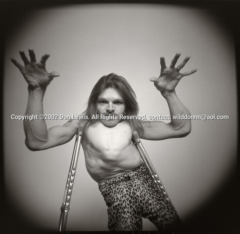 "Kurt ""Animal"" Levee of Ebola Music Orchestra, Los Angeles, April 26, 2002."