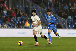 November 10, 2018 - Getafe, Madrid, Spain - Getafe CF's Angel Rodriguez during La Liga match between Getafe CF and Valencia CF at Coliseum Alfonso Perez in Getafe, Spain. November 10, 2018. (Credit Image: © A. Ware/NurPhoto via ZUMA Press)