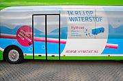 Nederland, Rotterdam, 22-09-2010Ecomobiel, beurs op het gebied van duurzame mobiliteit. Met auto's die rijden op waterstof, aardgas, biogas, en stroom.Bus op waterstof.Foto: Flip Franssen/Hollandse Hoogte