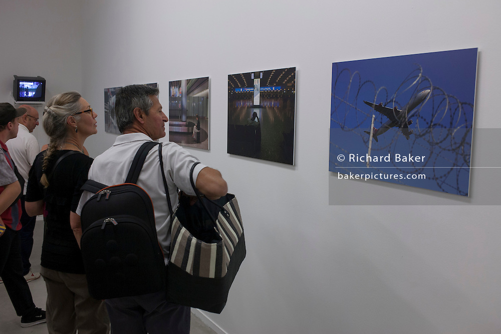 Documentary photography by Richard Baker from the airport-theme exhibition entitled 'Terminal P', at La Panacee, Montpellier, south of France.