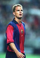Frank De Boer - Barcelona. Arsenal v FC Barcelona, The Amsterdam Tournament, Amsterdam Arena, Holland, 3/8/2000. Credit Colorsport / Stuart MacFarlane.