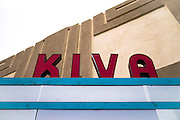 Marquee of the Historic Kiva Theater, Las Vegas, New Mexico.