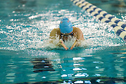 Margaret Kleinsmith competes in the 100 Yard Breaststroke in the 2016 NYSPHSAA Swimming and Diving Championships held at Ithaca College on Saturday.