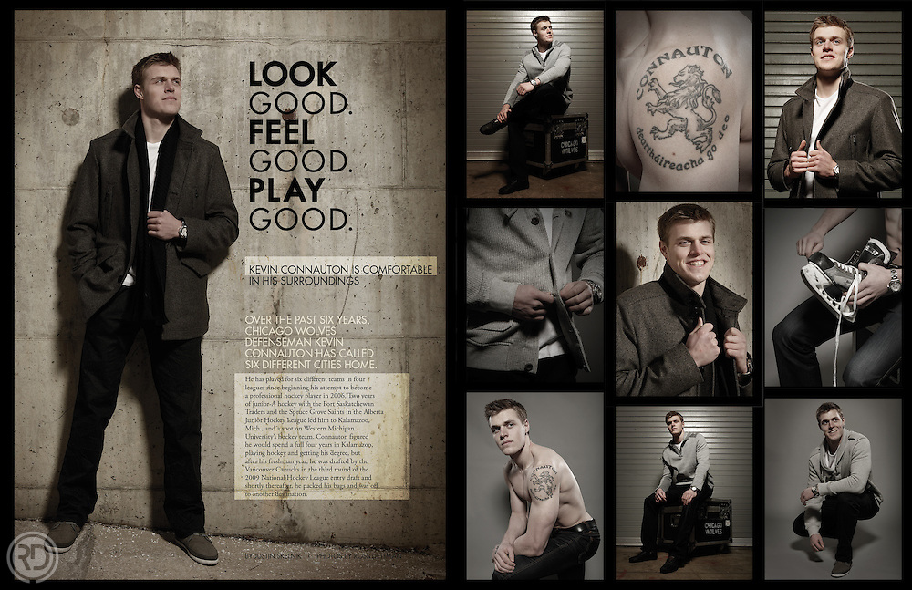 Chicago Wolves BreakAway Magazine.Photography: Ross Dettman.Design: Christina Moritz/Ross Dettman.January 2012.