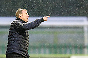 Macclesfield Town manager David Flitcroft during the EFL Sky Bet League 2 match between Forest Green Rovers and Mansfield Town at the New Lawn, Forest Green, United Kingdom on 15 December 2018.