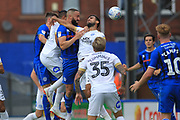 Aaron Wilbraham heads goalwards  during the EFL Sky Bet League 1 match between Rochdale and Peterborough United at Spotland, Rochdale, England on 11 August 2018.