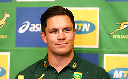 Durban. 140818.Francois Louw during the South African national rugby team media conference at Garden Court Umhlanga on August 14, 2018 in Durban, South Africa. Picture Leon Lestrade. African News Agency/ANA.