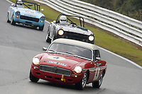#4 John Leslie MG B 1798 during the CSCC Adams and Page Swinging Sixties at Oulton Park, Little Budworth, Cheshire, United Kingdom. October 15 2016. World Copyright Peter Taylor/PSP. <br /> Copy of publication required for printed pictures.  Every used picture is fee-liable. http://archive.petertaylor-photographic.co.uk