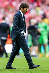 Chelsea manager Antonio Conte looks dejected after Arsenal win the match 2-0 to become FA Cup Winners - Rogan Thomson/JMP - 27/05/2017 - FOOTBALL - Wembley Stadium - London, England - Arsenal v Chelsea - FA Cup Final.