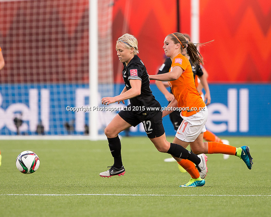 Betsy Hassett. Edmonton, Alberta, Canada, June 6, 2015.  The opening day of the Women's World Cup at Commonwealth Stadium.  New Zealand was defeated by Netherlands 1-0.