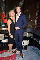 LONDON, ENGLAND 8 DECEMBER 2016: Peter Reed, Jeannie Corby at the Omega Constellation Globemaster Dinner at Marcus, The Berkeley Hotel, Wilton Place, London England. 8 December 2016.