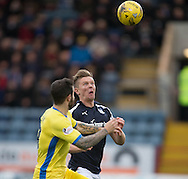 Dundee&rsquo;s Mark O&rsquo;Hara and St Johnstone&rsquo;s Richard Foster - Dundee v St Johnstone in the Ladbrokes Scottish Premiership at Dens Park, Dundee - Photo: David Young, <br /> <br />  - &copy; David Young - www.davidyoungphoto.co.uk - email: davidyoungphoto@gmail.com