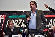 Neo-Fascist Forza Nuova press conference in Como with Roberto Fiore