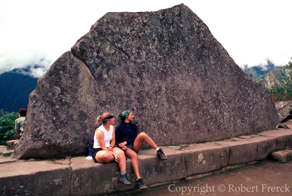 PERU, PREHISPANIC, INCA Machu Picchu; the Sacred Rock