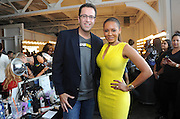 "Mel B, right, ""America's Got Talent"" judge and former Spice Girl, poses with Jared Fogle ""The SUBWAY Guy"" backstage at the ""Project SUBWAY"" fashion show during New York Fashion Week, Wednesday, September 11, 2013, as part of SUBWAY Restaurants' SUBtember celebration.   (Photo by Diane Bondareff/Invision for Subway Restaurants/AP Images)"
