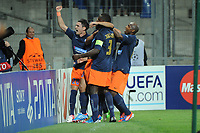 FOOTBALL - UEFA CHAMPIONS LEAGUE 2012/2013 - GROUP STAGE - GROUP B - MONTPELLIER HSC v ARSENAL - 18/09/2012 - PHOTO SYLVAIN THOMAS / DPPI - JOY MHSC PLAYERS AFTER GOAL