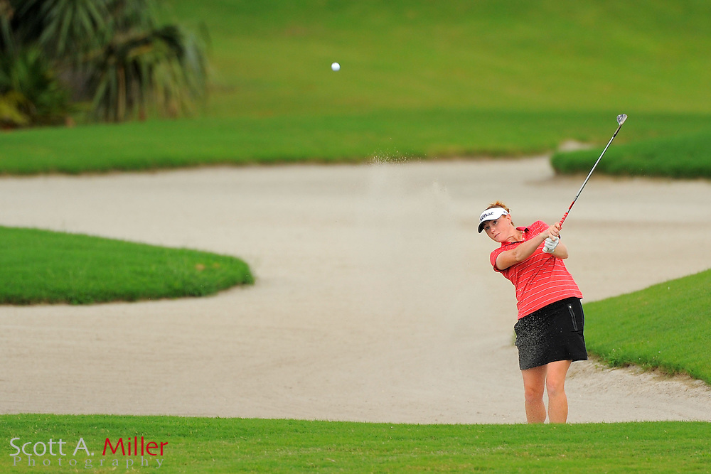Molly Aronsson in action during the Daytona Beach Invitational  at LPGA International on Sept. 29, 2012 in Daytona Beach, Florida...©2012 Scott A. Miller