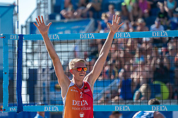 25-08-2019 NED: DELA NK Beach Volleyball, Scheveningen<br /> Last day NK Beachvolleyball / Stefan Boermans #2