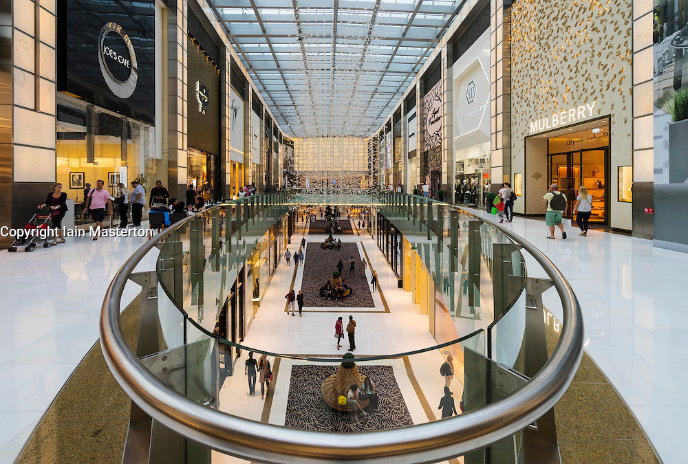 View of Fashion Avenue within Dubai Mall in Dubai United Arab Emirates