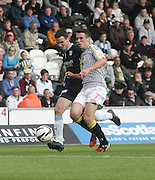 Dundee's Paul McGinn and his brother St Mirren's John McGinn battle for the ball - St Mirren v Dundee, SPFL Premiership at St Mirren Park<br /> <br />  - © David Young - www.davidyoungphoto.co.uk - email: davidyoungphoto@gmail.com