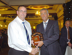 COGENHOE CHARLIE BRYANT, RECIEVES IAN DAVIDSON AWARD, Northants Cricket Dinner, Presentations, Wicksteed Park Friday 15th October 2010, Guest Mike Watkinson