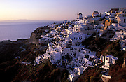GREECE.The Cyclades: Santorini (Thira) .Ia, perched on the edge of a volcanic crater said to be the remains of an eruption that dwarfed Krakatoa.Th parting of the Red Sea for Moses is thought to be a reference to the early stages of the tsunami caused by this eruption.