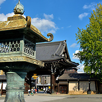 Goeido Gate at Nishi Honganji in Kyoto, Japan <br />