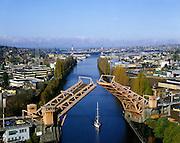 AA00018-01...WASHINGTON - A 1982 photo of the Fremont Bridge on the Lake Washington Ship Cannel in Seattle.