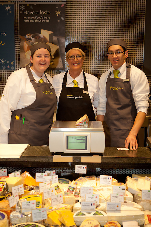 Catriona Dunleavy, Sue Murdock and Jeronimo Da Silva  on the cheese counter