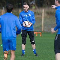 St Johnstone Training...27.10.14<br /> James McFadden pictured in training this morning at McDiarmid Park ahead of tomorrow's League Cup quarter final against Rangers at Ibrox...<br /> Picture by Graeme Hart.<br /> Copyright Perthshire Picture Agency<br /> Tel: 01738 623350  Mobile: 07990 594431