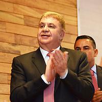 Toluca, México (Mayo 4, 2016).- José Manzur Quiroga, Secretario General de Gobierno del Estado de México, durante la inauguración del Foro de Participación Ciudadana para la Prevención Social de la Violencia y la Delincuencia.  Agencia MVT / José Hernández.