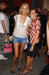 Left to right, the HON.SOPHIA HESKETH and FRANCESCA VERSACE at the launch of 'Blow Lips' a new lipstick by Isabella Blow and MAC Makeup held at the the Blow de la Barra Gallery, 35 Heddon Street, London on 7th September 2005.<br /><br />NON EXCLUSIVE - WORLD RIGHTS