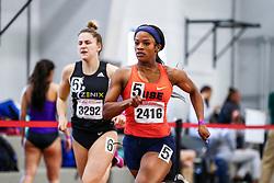 David Hemery Valentine Invitational<br /> Indoor Track & Field at Boston University , womens 400 meters, heat 8, Syracuse,