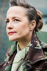 Portrait of Woman Wearing Camouflage Jacket