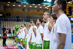 National team Slovenia during friendly basketball match between National teams of Slovenia and Ukraine at day 1 of Adecco Cup 2015, on August 21 in Koper, Slovenia. Photo by Grega Valancic / Sportida