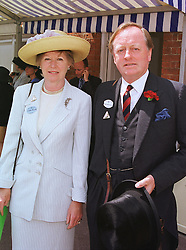 MR & MRS ANDREW PARKER BOWLES he was the former husband of Camilla Parker Bowles, at Royal Ascot on 16th June 1999.MTH 27