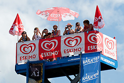 Eskimo tower with fans at A1 Beach Volleyball Grand Slam tournament of Swatch FIVB World Tour 2010, final, on July 31, 2010 in Klagenfurt, Austria. (Photo by Matic Klansek Velej / Sportida)
