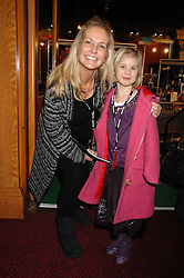 ULRIKA JONSSON and her daughter BO at the gala night of Varekai by Cirque du Soleil at The Royal Albert Hall, London on 8th January 2008.<br />